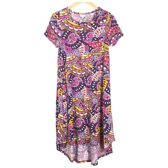 LuLaRoe Dresses & Skirts - LulaRoe Carly Dress Purple Flower Power XXS